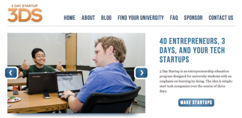 Students Building a Business at Speed with 3 Day Startup