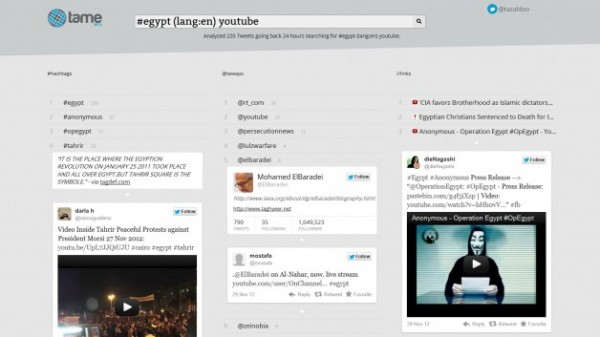 Tame Your Twitter Network with Tazaldoo's Context Search Engine