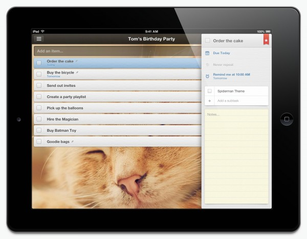 Wunderlist 2 iPad App Released as Total Users Reach 3.5m