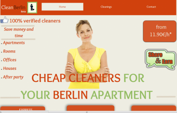 What a Dirty Business! 'myTaxi for Cleaners' CleanBerlin Launches