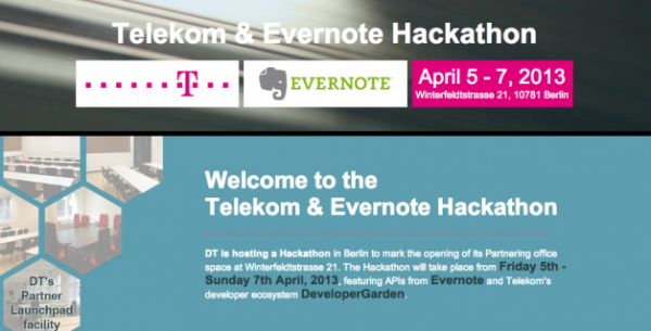 Deutsche Telekom, Evernote Join Forces for Massive Berlin Hackathon