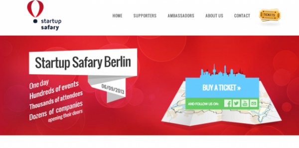 Go on Safari Right Here in Berlin: Get Your Ticket for Startup Safary Now