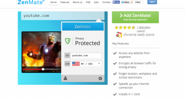VPN-Like Chrome Addon ZenMate Hits a Million Users in Six Months