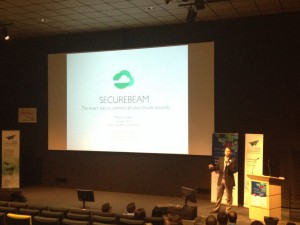 SecureBeam pitching in Rennes. Photo: Silicon Allee/David Knight
