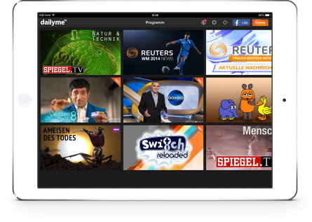 Free TV App dailyme Adds Spiegel Programs to Its Content Portfolio