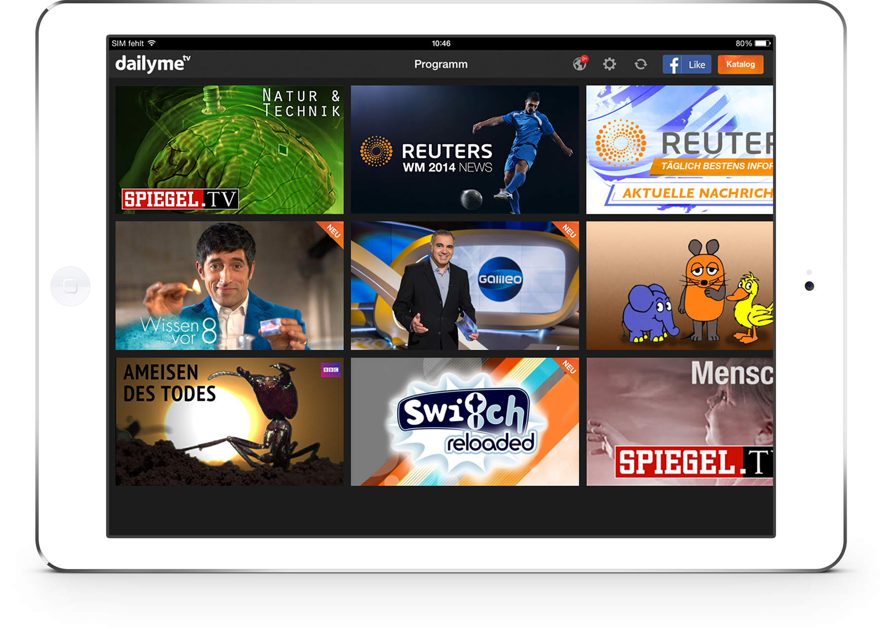 Free tv app dailyme adds spiegel programs to its content for Spiegel tv news