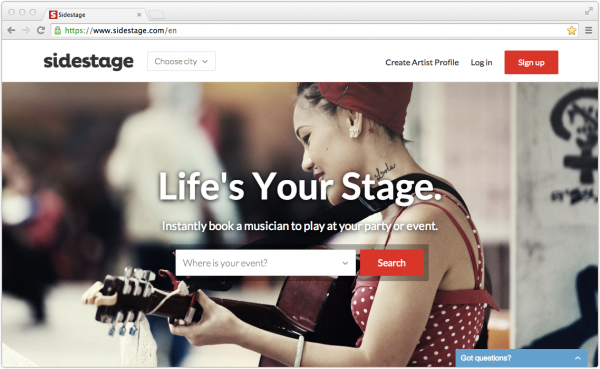 Hitting the Right Note: Musician Marketplace Sidestage Launches