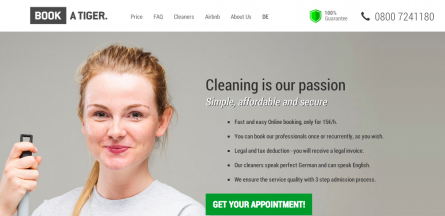 Cleaning Platform Book A Tiger Closes Seven-Figure Seed Round Led by DN Capital