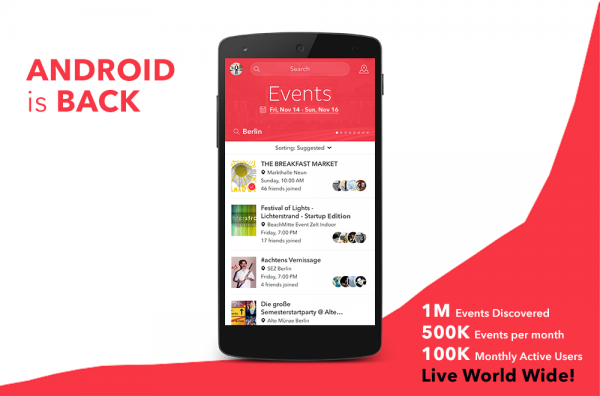 Vamos Launches New Android App as It Marks a Million Discovered Events
